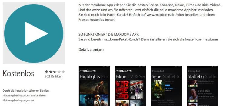 Video-on-Demand-Dienste? Nicht mit Windows Phone!